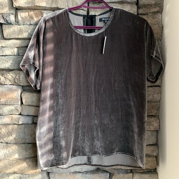 Madewell | velvet blouse